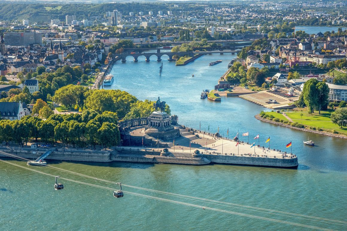 Deutsches Eck in Koblenz